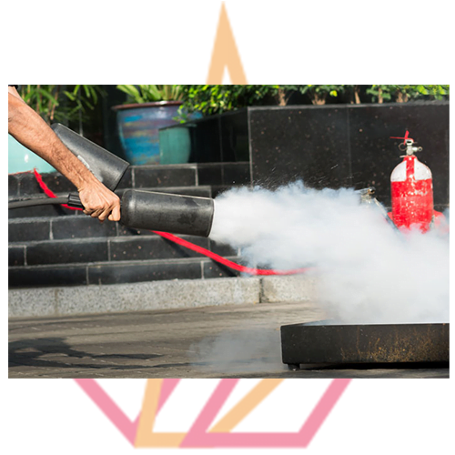 Fire safety training with fire extinguishers